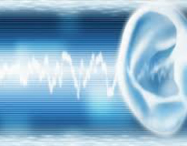 Ear listenening to binaural beats and isochronic tones sound waves