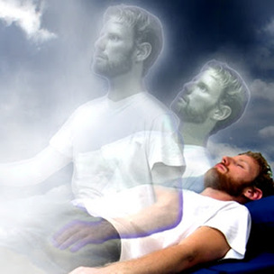 Man leaving his body - Astral projection - out of body experience